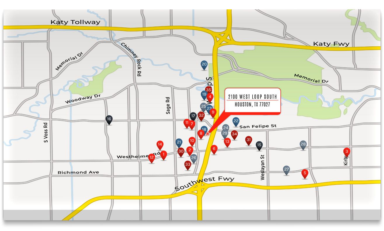 2100 West Loop South - Commercial Map